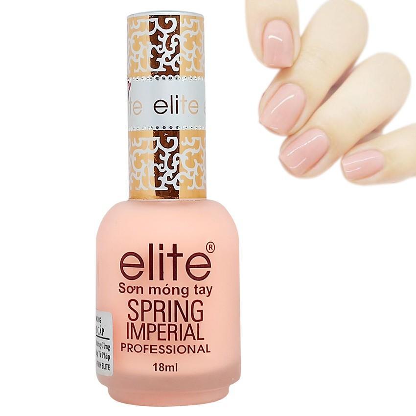 Sơn dưỡng móng Elite Spring Imperial Pháp 18ml (Hồng Sữa) tốt nhất