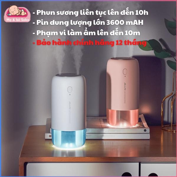 Máy phun sương, tạo ẩm không khí và giữ ẩm da Jisulife JB08 500ml - Hai chế độ phun đơn và kép – Máy tạo ẩm không gian thư giãn kiêm đèn ngủ LED để bàn tiện lợi, hoạt động tối đa 10 giờ liên tục - Bảo hành 12 tháng chính hãng - Vins Ma