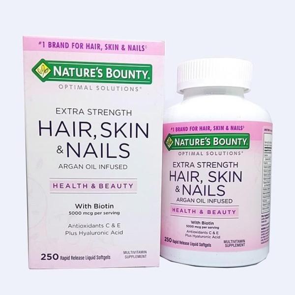 Vitamin Làm Đẹp Da, Tóc, Móng Hair Skin and Nails Natures Bounty 250v của Mỹ