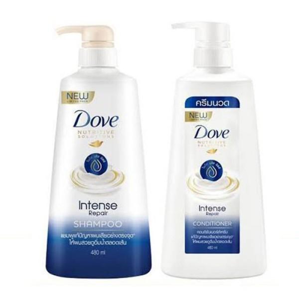 Dầu gội  và Dầu xã DOVE 450ml/chai - Phục hồi tóc hư tổn - Hàng Thái Lan giá rẻ