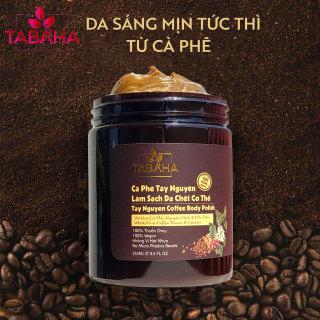 Tẩy da chết toàn thân body từ hạt cà phê Tây Nguyên Tabaha 250ml thuần chay không hương liệu thumbnail