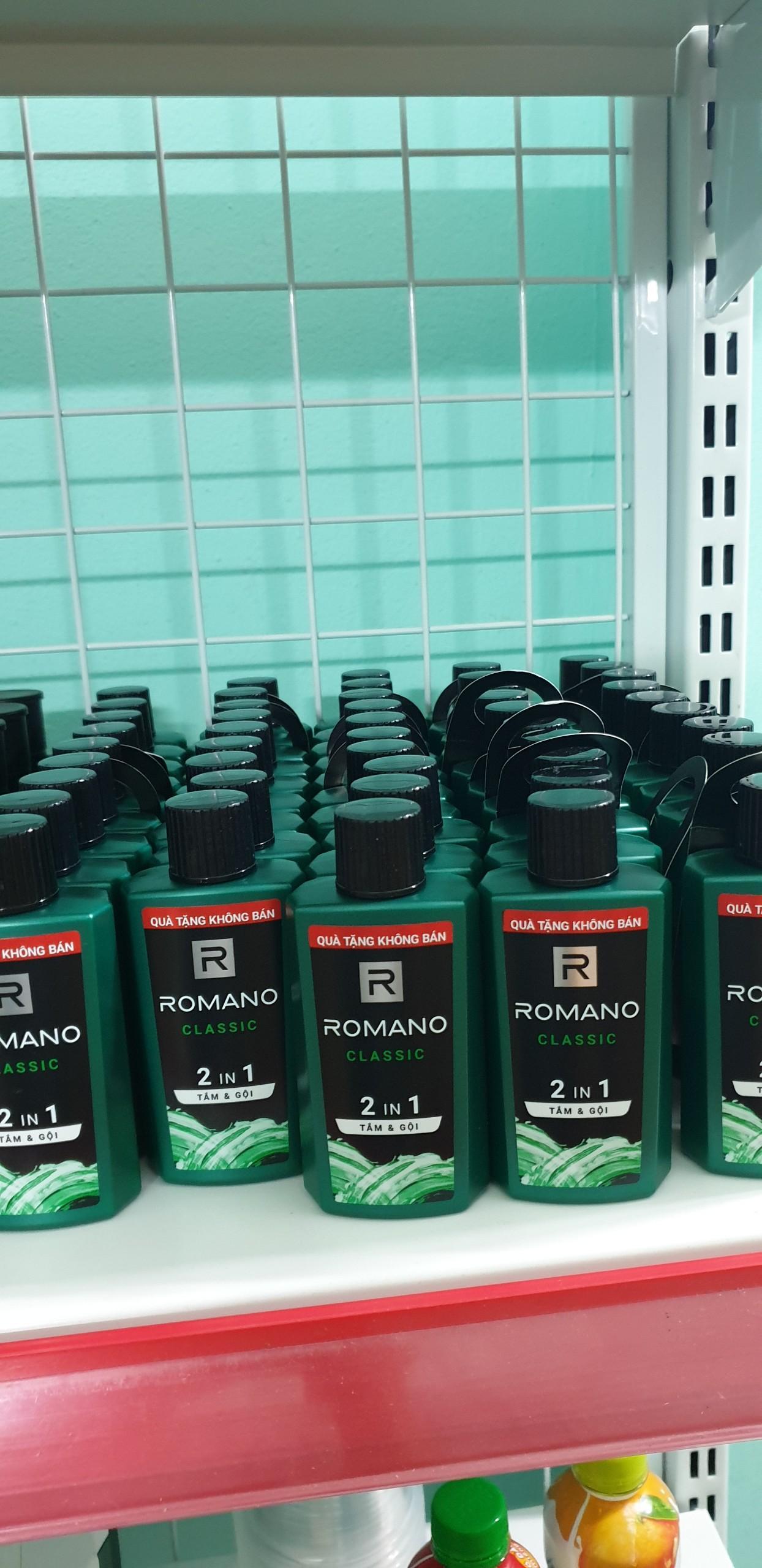 Combo 5 chai romano tắm gội 2 in 1 tặng túi đựng mỹ phẩm ngẫu nhiên nhập khẩu