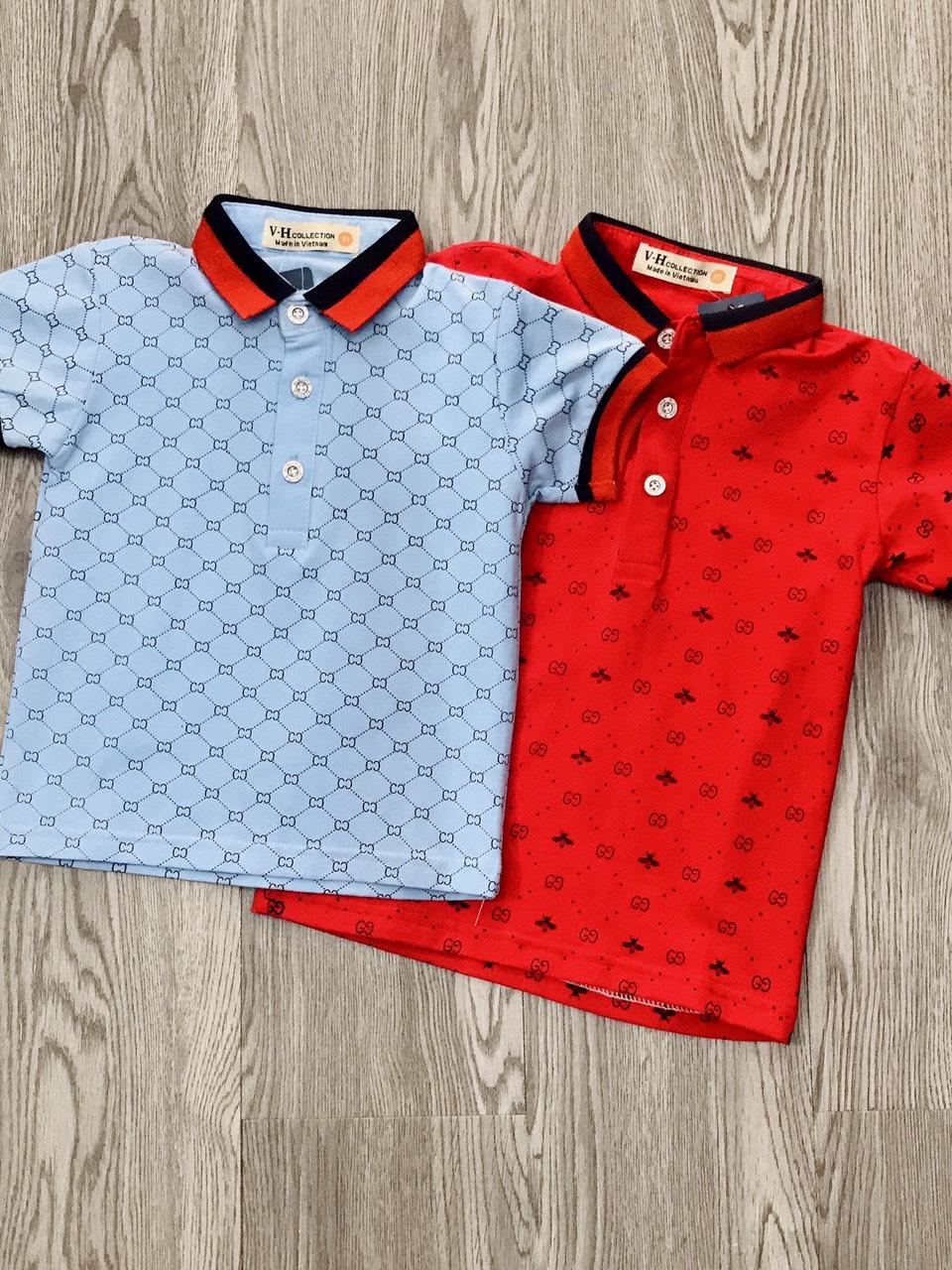 áo phông có cổ bé trai 2 màu sz 10-16kg vm-30