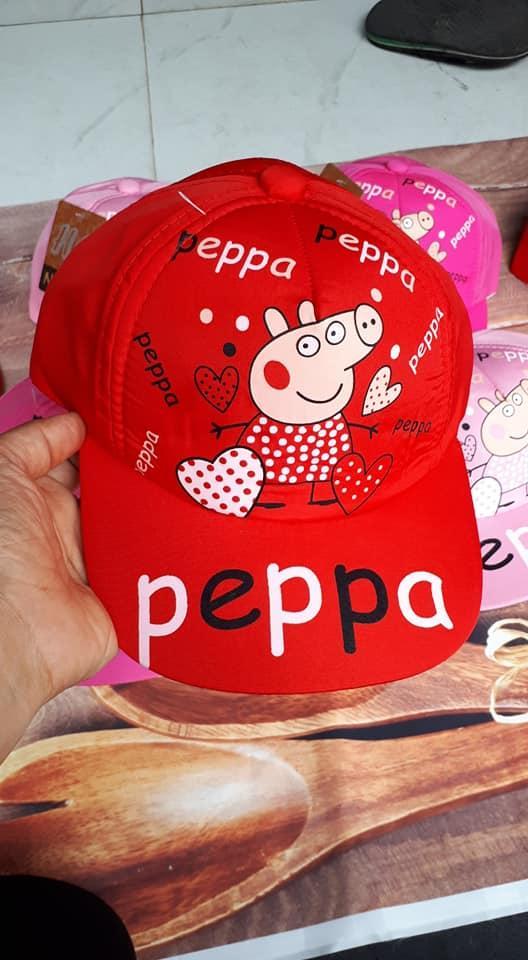 Mũ bé gái hoạt hình heo Peppa 1-4 tuổi