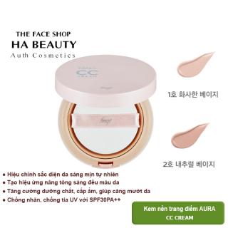 [AUTH] Kem nền trang điểm AURA CC CREAM SPF30PA++ 20g The Face Shop thumbnail