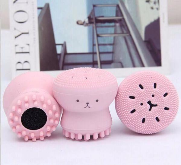 Cọ Rửa Mặt Silicon Hình Bạch Tuộc Hồng Pastel Siêu Cute giá rẻ