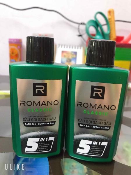 COMBO 2 CHAI DẦU GỘI SẠCH GÀU ROMANO CLASSIC 60G