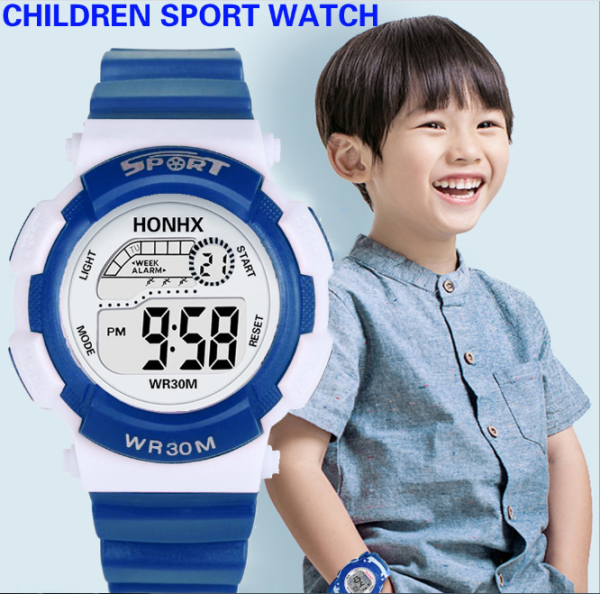 [CÓ 2 MÀU] Đồng hồ trẻ em đeo tay thời trang chống thấm nước màn hình LEX kỹ thuật số chính hiệu Honhx Watch bán chạy