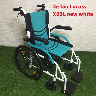 Xe lăn hợp kim nhôm nhẹ Lucass X63L new chính hãng