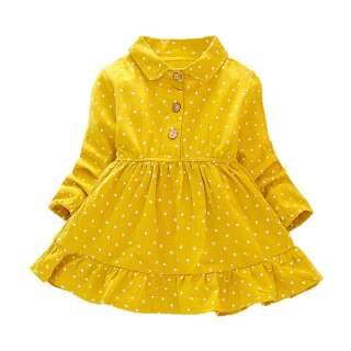 Đầm Dài Tay Chấm Bi Cho Bé Gái Baobaobaby Đầm Công Chúa Dài Tay Cho Trẻ Mới Biết Đi Dự Tiệc Mặc Hàng Ngày Mùa Thu