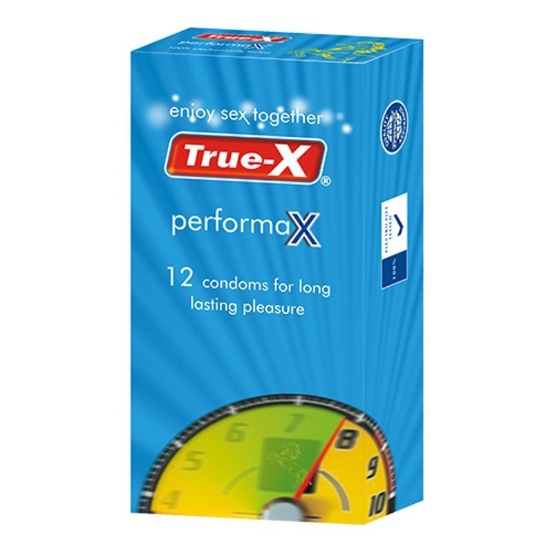 Bao cao su kéo dài thời gian True-X PerformaX hộp 12 chiếc