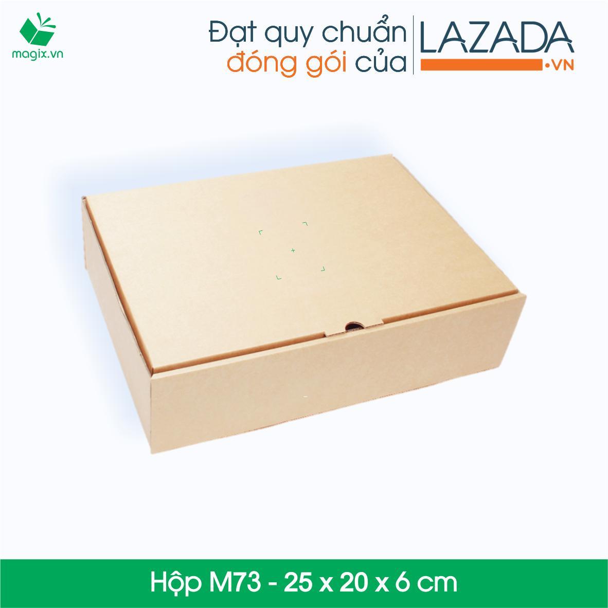 M73 - 25 x 20 x 6 cm - 25 Thùng hộp carton Nhật Bản