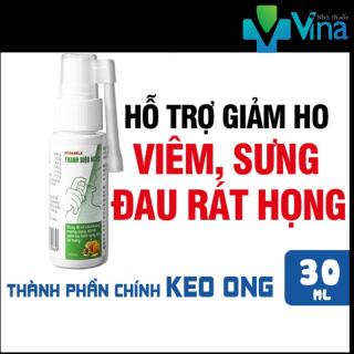 Dung dịch xịt họng Thanh Diệu Ngọc, Hỗ trợ giảm ho, Đau ngứa rát cổ họng, Chai 30ml thumbnail
