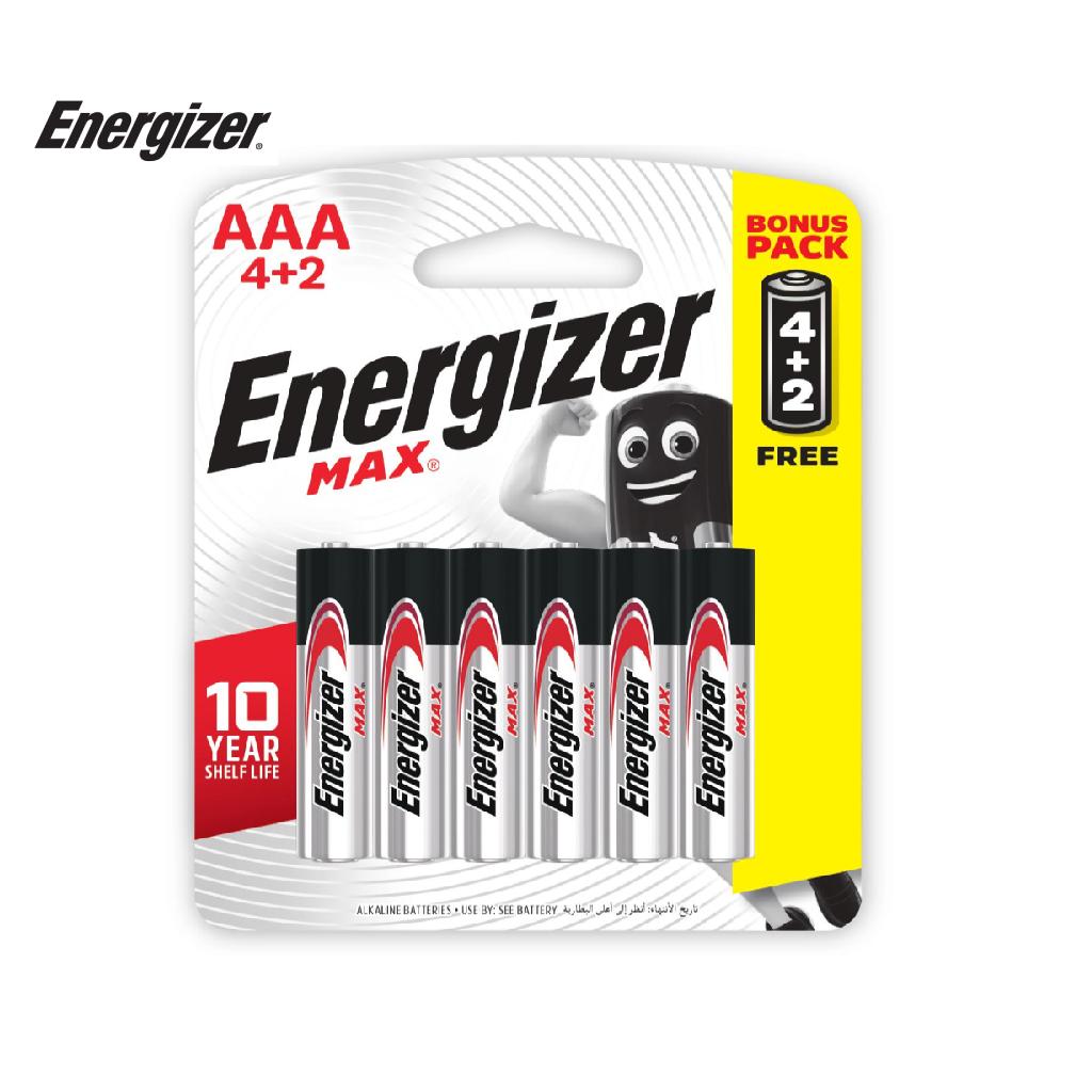 Pin Energizer Max AAA E92 BP4+2 - 100628298
