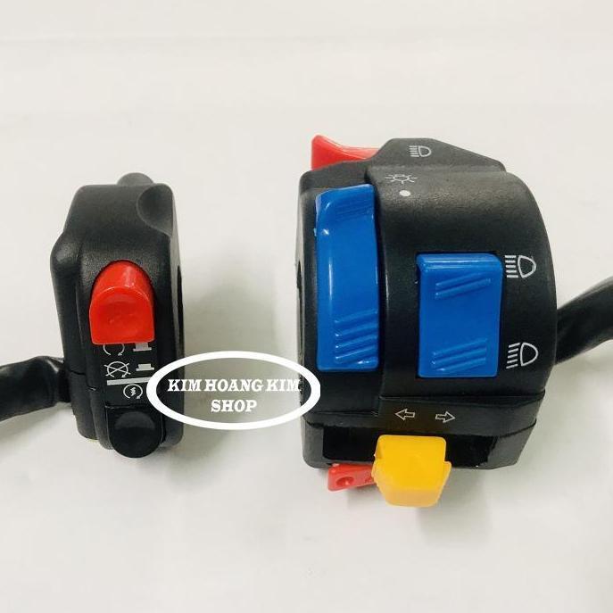 Bộ 2 cùm công tắc trái phải passing/on/of gắn xe máy thay thế cho cùm xe máy, dễ lắp đặt và sử dụng