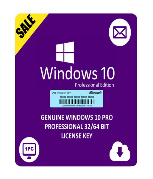 Bảng giá Mã kích hoạt bản quyền phần mềm windows 10 Professional phiên bản 32bit và 64 bit (Laptop/PC) Phong Vũ