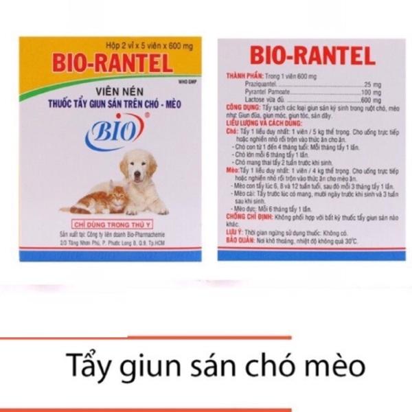 Combo 5 viên Bio Rantel định kỳ cho chó mèo, sản phẩm tốt, chất lượng cao, cam kết như hình