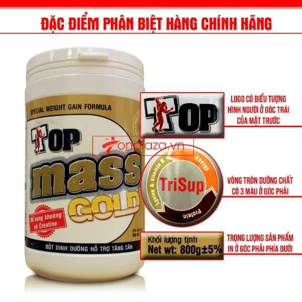 Voucher Ưu Đãi Sữa Tăng Cân Top Mass Gold Hương Socola (Hàng Chính Hãng)