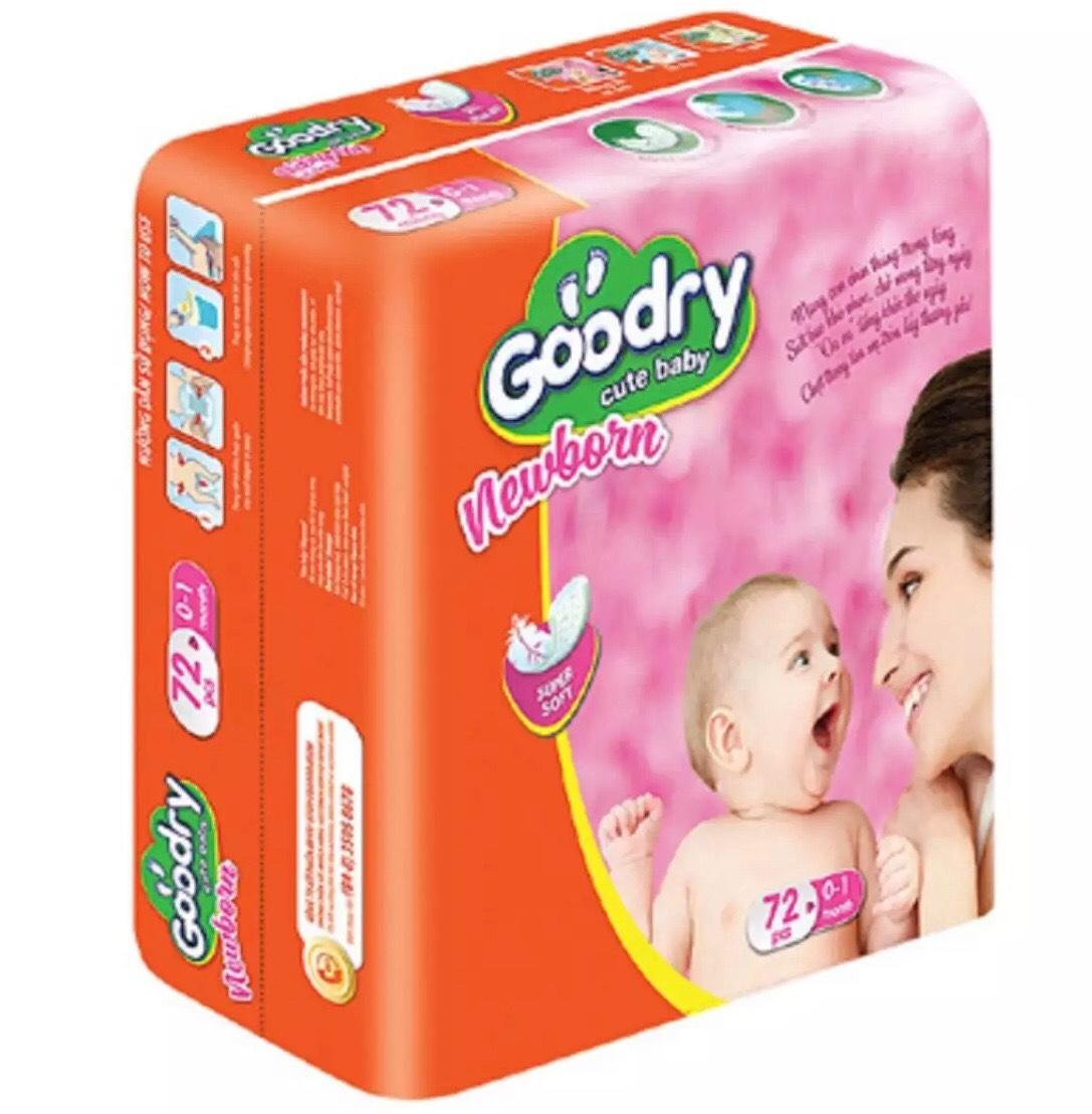 Lót Sơ Sinh 72 miếng Goodry Newborn 1