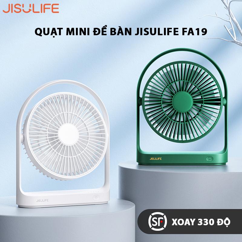 Quạt mini để bàn Jisulife FA19 xoay 330 độ linh hoạt, công nghệ giảm âm, hoạt động 15h liên tục ( Bảo hành 12 tháng )