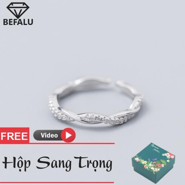 Nhẫn Nữ Đơn Giản Bạc 925 Phong Cách Hàn Quốc N18 Freesize- BEFALU