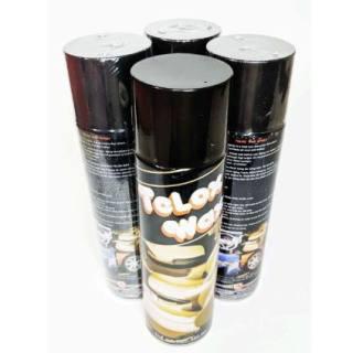 Đánh bóng da, xịt bóng telox wax 550ml xịt là bóng