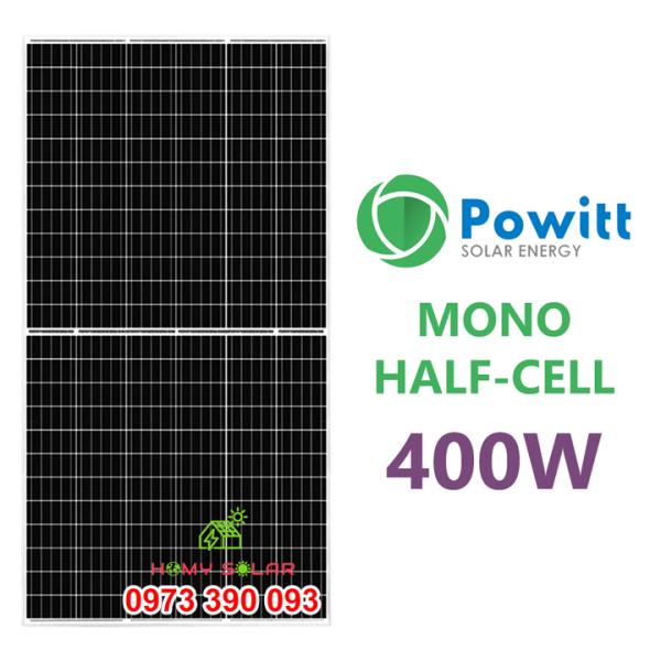 TẤM PIN NĂNG LƯỢNG MẶT TRỜI MONO HALF-CELL 400W POWITT
