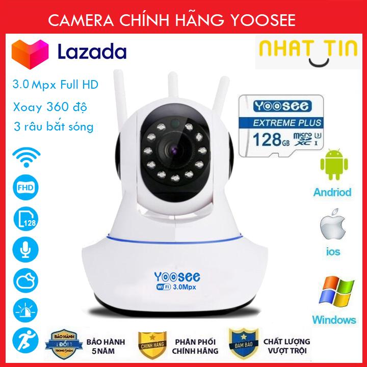[ COMBO TÙY CHỌN THẺ NHỚ 128 YOOSEE 3.0Mpx  BẢO HÀNH 5 NĂM  ] Camera Wifi - Camera Yoosee Wifi 3.0Mpx Full HD 1080P Model 2021 QUÝ KHÁCH CHÚ Ý (CÓ 2 MÃ:ĐÃ KÈM THẺ 385K VÀ CHƯA KÈM THẺ 300K).