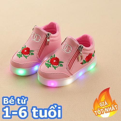 [SIÊU RẺ] Giày bé gái - giay be gai - giày cho bé gái - giay cho be gai - giày trẻ em - giay the thao cho be gai - giày thể thao cho bé gái - giay dep tre em - giày phát sáng trẻ em - Giày cao cổ gắn đèn led cho bé gái