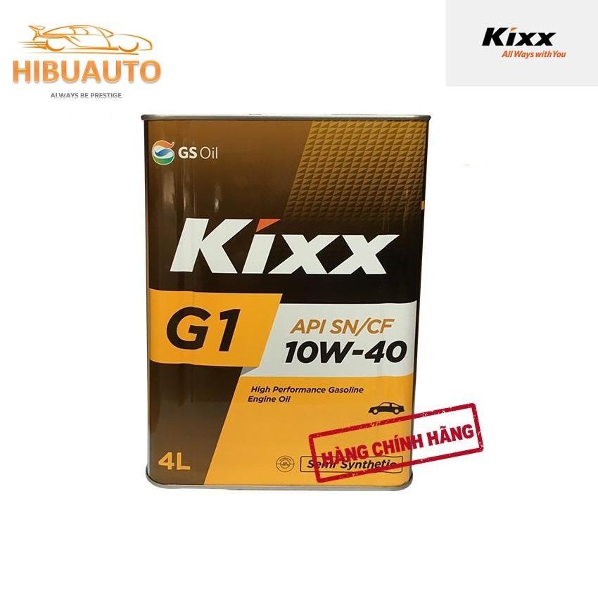 Kixx G1 – Dầu động Cơ Xăng Kixx G1 SN 10W40 4Lít – Thùng Thiếc Giá Tốt Không Nên Bỏ Qua