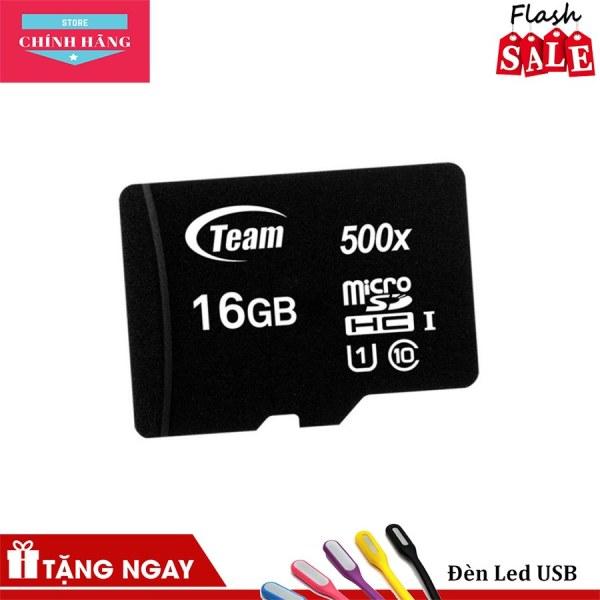 Thẻ nhớ micro SDHC Team 16GB upto 80MB/s 500x (Đen) - Bảo Hành 3 Năm