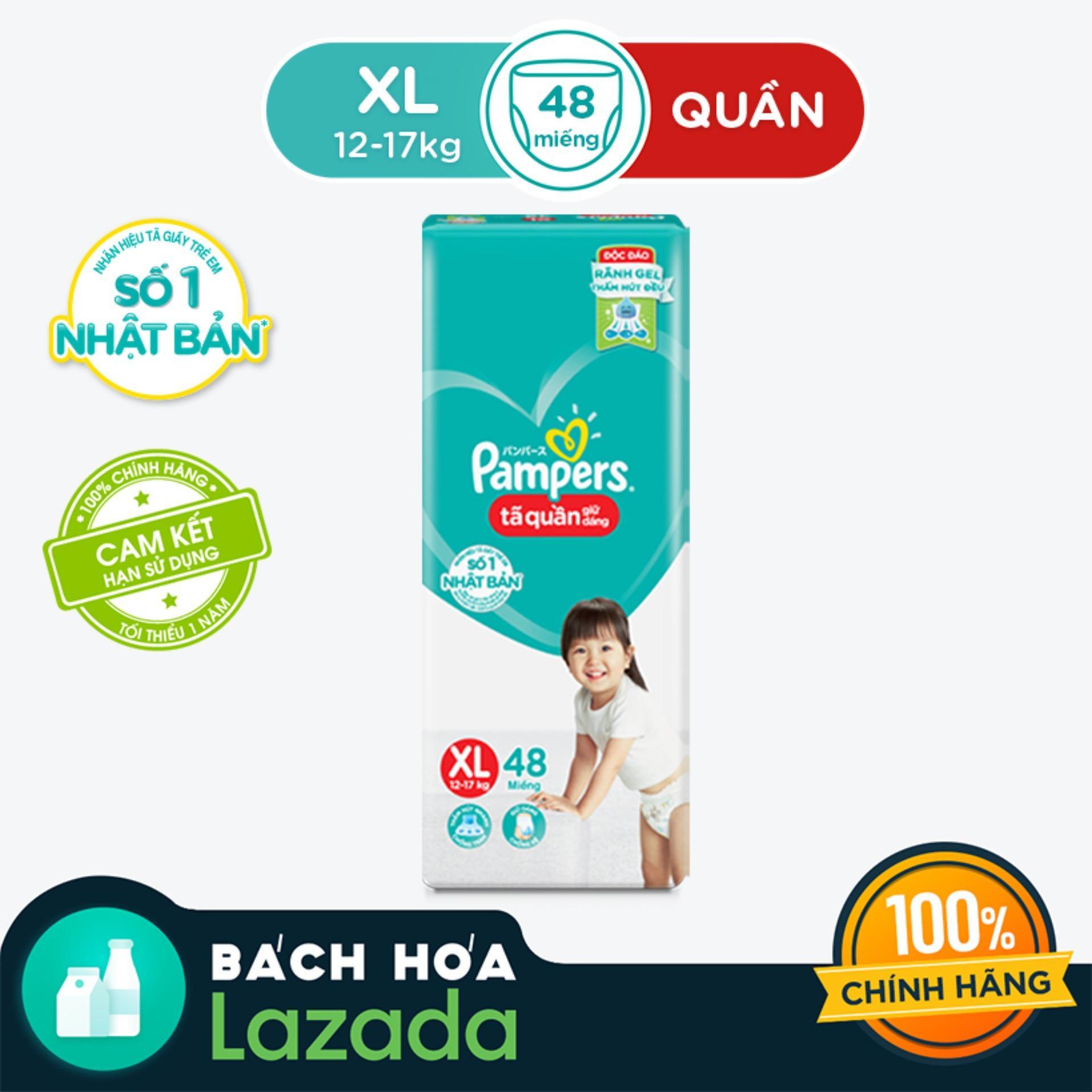 Tã Quần Pampers Giữ Dáng Mới Gói Đại XL48 (size...
