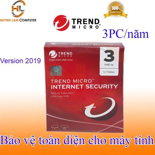 Bảng giá Phần mềm diệt virus internet Trend Micro 3pc/năm 2019 hãng phân phối Phong Vũ