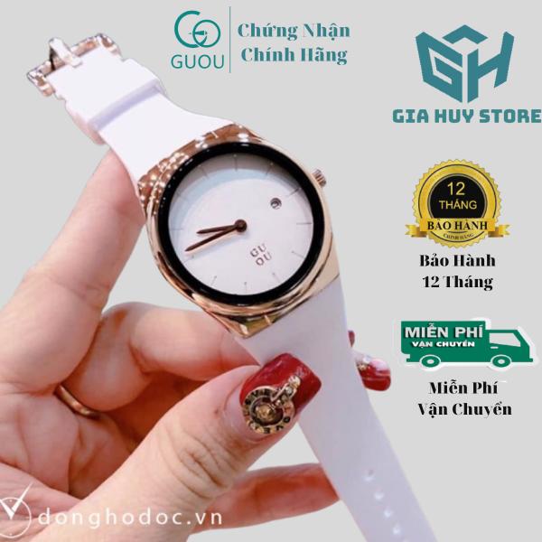 Nơi bán 🔥𝐇𝐚̀𝐧𝐠 𝐗𝐢̣𝐧🔥 Đồng Hồ Nữ Guou Dây Silicon Mặt Kính 31mm Chống Nước Kiểu Dáng Trẻ Trung Sành Điệu - Bảo Hành 12 Máy Tháng