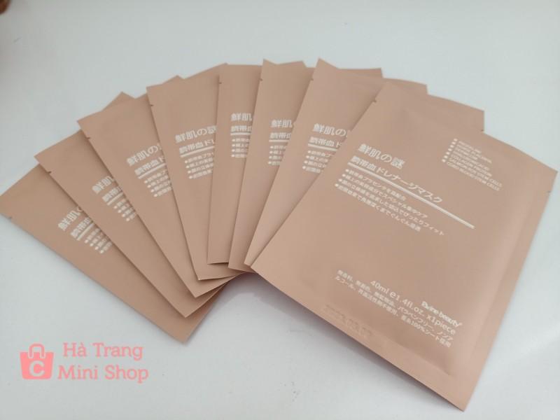Combo 50 miếng Mặt nạ nhau thai cừu non  Nhật Bản  có tem mã kiểm tra (màu hồng nhạt) giá rẻ