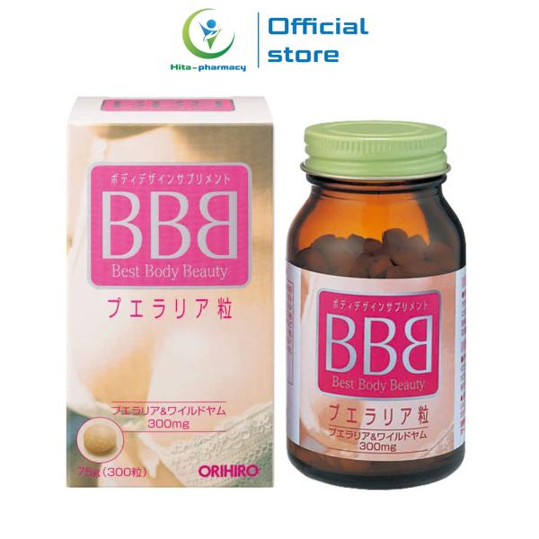 Viên uống nở ngực BBB Best Beauty Body Orihiro Nhật Bản giúp cân bằng nội tiết tố, giảm nám sạm da - Chai 300 viên giá rẻ