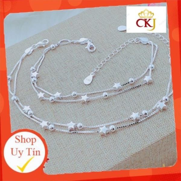 Lắc tay và lắc chân ngôi sao hàng ý cao cấp -Bạc CKJ sáng đẹp, kèm bảo hành