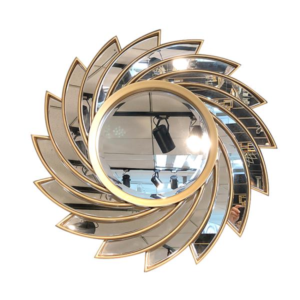 Gương trang điểm treo tường hoa Hướng Dương độc lạ decor phòng ngủ đẹp - Gương tròn treo tường, gương phòng tắm sang trọng