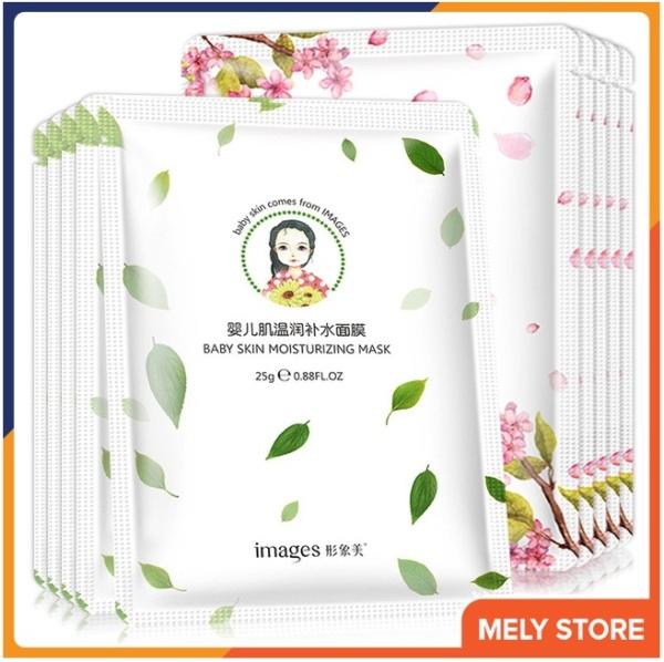 Combo 5 mặt nạ giấy dưỡng da trà xanh Và hoa anh đào Images giúp dưỡng ẩm, làm trắng, se khít lỗ chân lông, làm săn và tăng độ đàn hồi, mặt nạ giấy dưỡng da trắng nội địa Trung SPU059