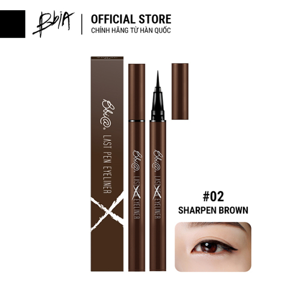 Kẻ mắt nước lâu trôi Bbia Last Pen Eyeliner - 02 Sharpen Brown (Màu nâu đậm) giá rẻ