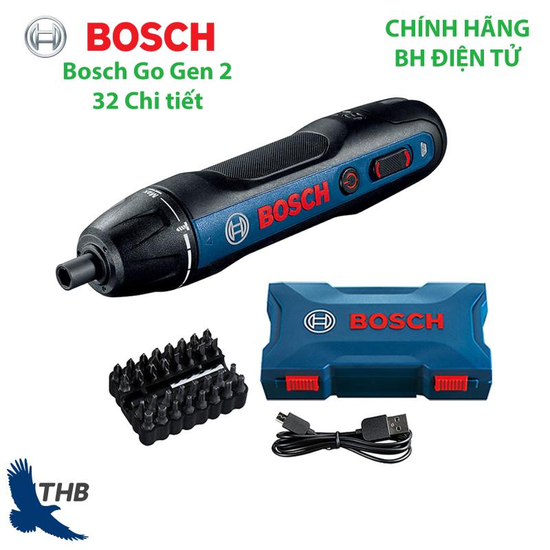 Máy vặn vít Bosch Go Gen 2 kèm hộp phụ kiện 32 chi tiết dùng Pin 3.6V Hàng chính hãng bảo hành 6 tháng