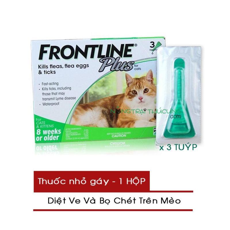 Thuốc Nhỏ Gáy Trị Ve và Bọ Chét Trên Mèo - FRONTLINE PLUS CAT - 1 Hộp (3 Tuýp) - Nông Trại Thú Cưng