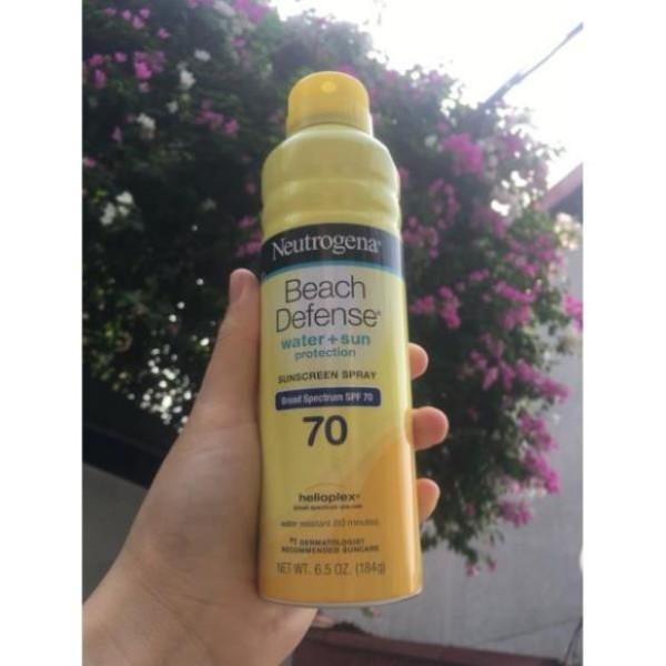 Xịt chống nắng Neutrogena spf 70 nhập khẩu