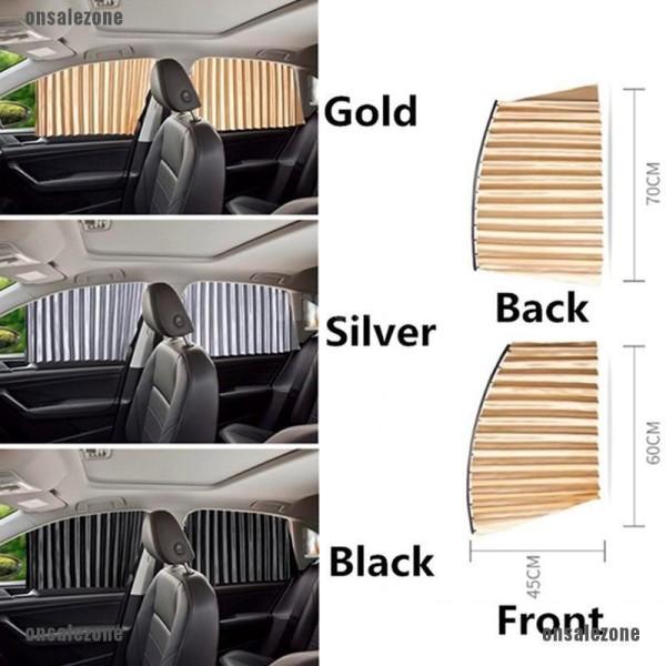 COMBO 4 RÈM - Rèm che nắng cửa kính xe ô tô 4-7 chỗ rèm vải cao cấp mẫu mới 2021