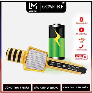 Micro hát karaoke bluetooth GrownTech SD-17, mic hát đa năng kiêm loa, livestream, thu âm thumbnail