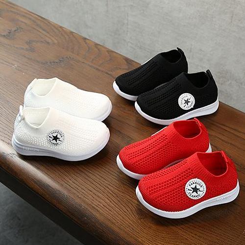Giá bán Giày thể thao cho bé trai và bé gái đế gấu cổ chun thoáng khí