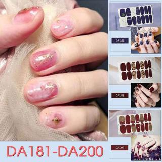 Bộ dán móng tay nail sticker gồm 14 móng mã DA181 - DA200 thumbnail