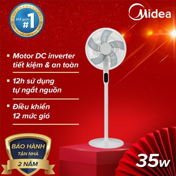 Midea Quạt điện remote inverter FS40-18AR (Trắng), 35W tiết kiệm điện tự tắt nguồn khi quá tải - Bảo hành 24 tháng - Hàng phân phối chính hãng