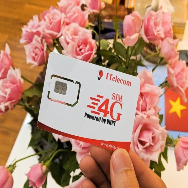 Sim 4G Vina gói 3GB/ngày (90GB/tháng) hãng Itelecom + 30 phút gọi ngoại mạng + Miễn phí gọi nội mạng Vinaphone
