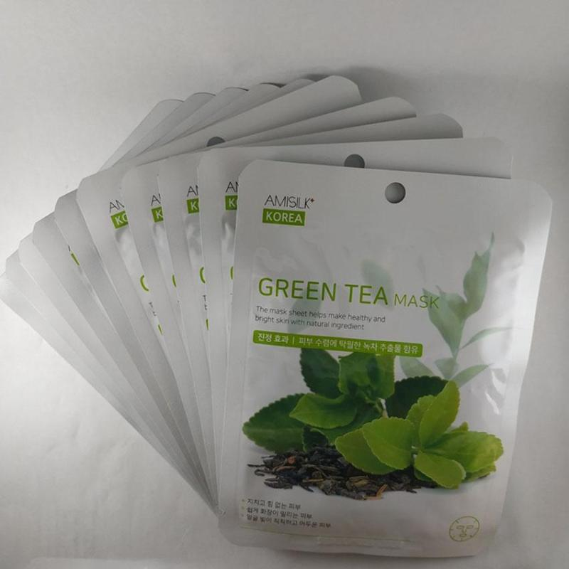 Mặt nạ dưỡng da trà xanh Green Tea Mask Amisilk Korea